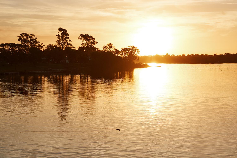 Sun set on Lake Nagambie